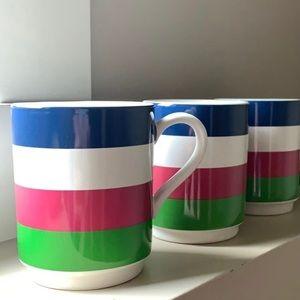 3 Kate Spade Coffee Mugs
